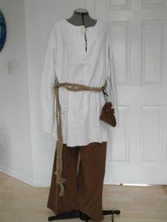Renaissance Costume Men's Peasant Workers Outfit Various Sizes | eBay