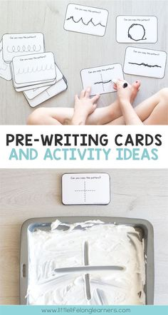 Pre-Writing Cards Prepare your child for school with this set of printable pre-writing cards! These cards include all of the pre-writing strokes, shapes and lines that children need to be able to copy and trace before they can start writing the letters of Preschool Writing, Toddler Learning Activities, Preschool Learning Activities, Preschool At Home, Preschool Classroom, Preschool Crafts, Preschool Readiness, Daycare Curriculum, Preschool Letters