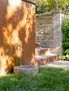 Fresh water, and plenty of it, is essential. Why not take this opportunity to add a water feature to your landscape that your dog can access? A splash fountain or stream is ideal, and you'll enjoy it, too.