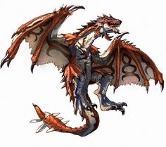 King of the Sky, Rathalos Monster Hunter Series, Monster Hunter Art, Monster Art, Fantasy Creatures, Mythical Creatures, Monster Hunter Rathalos, Hunter Games, Fantasy Beasts, Dragon Artwork