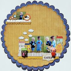 Great Easter page.  Love the houses and fencing