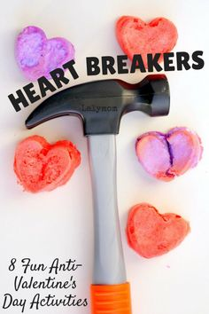 8 Fun Anti-Valentine's Day Activities- heart shaped baked cotton balls and more. Click through to see all the fun ideas!