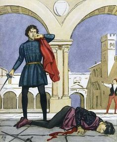I Chose This Picture Becausethis Shows Turning Point Of Romeo And JulietIn The Kills Tybalt Than Banishes From Verona
