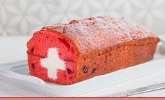 Monatsrezept Nr. 15: 1.-August-Cake. Am Nationalfeiertag servieren wir das Schweizerkreuz als Kuchenstück! #Rezept #Backen #1August Halloween Torte, European Cuisine, 1 August, Bake Sale, Baked Goods, Delish, Cake Decorating, Sweets, Snacks
