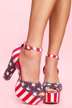 Jeffrey Campbell El Carmen Platform - American Flag from NASTY GAL. Saved to cute clothes American Pride, American Flag, American Girls, Red White Blue, Simple Outfits, Platform Pumps, Jeffrey Campbell, Shoe Collection, Me Too Shoes