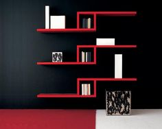Repisas modernas para las salas de estar