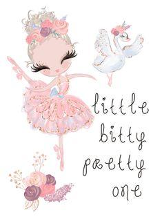 Nursery Décor, Nursery Wall Decor, Little Ballerina, Ballerina Cartoon, Cartoon Clip, Cute Dragons, Cute Illustration, Artist At Work, Cute Art