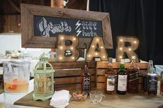 Bourbon Bar DIY Decor