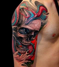 125 Best Skull Tattoos For Men: Cool Designs + Ideas (2021 Guide) Small Skull Tattoo, Skull Tattoo Design, Skull Design, Tattoo Designs Men, Different Styles Of Tattoos, Skull Sketch, Colorful Skulls, Sugar Skull Tattoos, Real Tattoo