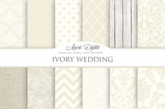 Ivory Wedding Digital Paper by Avenie Digital on Creative Market
