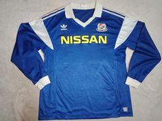 Yokohama F.Marinos 1990 Long Sleeve Soccer Jersey Football shirt M Vintage Football Shirts, Yokohama, Soccer, Trending Outfits, Long Sleeve, Mens Tops, Etsy, Products, Fashion