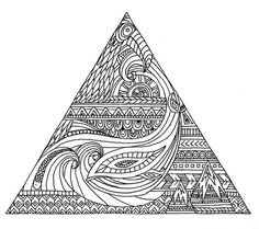 Triangle tattoo design by Maia Walczak Back Tattoos, Great Tattoos, Triangle Tattoo Design, Surf Tattoo, Longboard Design, Ocean Wallpaper, Surf Art, Skateboard Art, Tattoo Designs