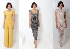 Norma Kamali exudes timeless elegance. Such fabulous pieces. These are my 3 favs...(SS 2013)
