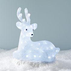Alaskan Sitting Reindeer Light Up Figure