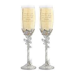 Engraved Butterfly Toasting Flutes   Things Remembered