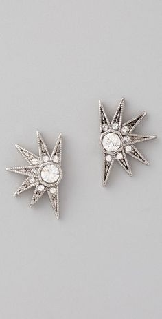 House of Harlow 1960 Pave Stargazer Earrings: Guilt-Free Glamour Jewelry Box, Jewelry Accessories, Fashion Accessories, Fashion Jewelry, Jewlery, Bijoux Art Deco, Diamond Are A Girls Best Friend, Bracelets, Silver
