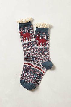 Anthropologie - Ruffled Camp Socks