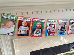 You Sports Fan Mommas::This is so cute! AllStar First Birthday Twelve Month Photo Banner. by HandmadeByVee