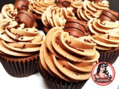 Kinder Bueno Cupcakes   Mutherfudger #recipe #chocolate #nutella #cupcake