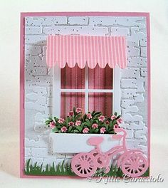 Love the awning and bicycle on this Madison Window die card.
