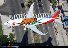 Boeing 737-3H4 - Southwest Airlines in a California livery.