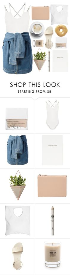 """Over Me"" by ocenia ❤ liked on Polyvore featuring NARS Cosmetics, New Look, DKNY, Topshop, Umbra, ASOS, Jennifer Haley, NYX and Baxter of California"