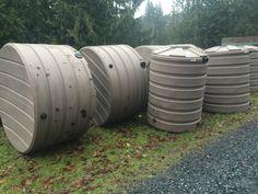660 gallon and 420 gallon rain tanks