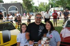 Pam and Becca with Guy Fieri at the 2011 Woodward Dream Cruise