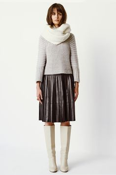 0eee9e3f78 Leather Skirt - Club Monaco Canada Fashion Boots, Knit Fashion, Fashion  Outfits, Latest