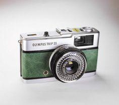 #Olympus #Trip 35 / GREEN Leather / LightBurn Film Camera / Street Photography / £44.99