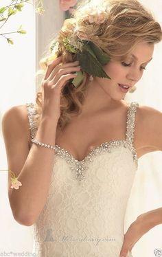 New Mermaid Lace white/ivory Wedding Dress Bridal Gown Custom Size 6 8 10 12 14+ #bluesea111