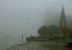 Foggy At St. Mary's Church by Caroline Reyes-Loughrey