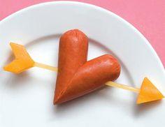 Recetas divertidas: corazón hecho con hot dog | Recetas para niños