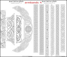 The Aon Celtic Art website features the artistic works of international artist Cari Buziak, including a gallery of works, free tutorials and clipart. Celtic Band Tattoo, Tattoo Band, Celtic Symbols, Celtic Art, Celtic Knots, Celtic Dragon, Celtic Drawings, Armband Tattoo Meaning, Celtic Border