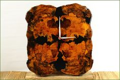 Clocks – Beautiful wall clock made of wood and resin – a unique product by PieceOfNature on DaWanda