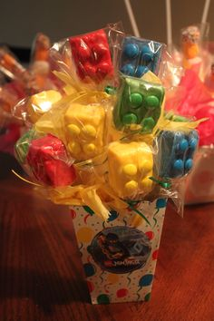 Lego Rice Krispie Pops