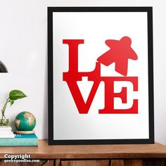 LOVE Meeple Poster Tabletop and Strategy Gaming Poster | Etsy Gaming Posters, Room Posters, Board Game Geek, Board Games, Game Room Decor, All Poster, Home Crafts, Tabletop, Backdrops