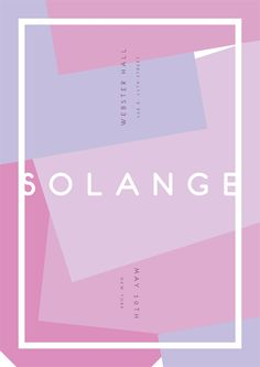 One off poster for Solange's Webster Hall show in New York ·James Kirkup