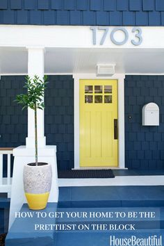 Front door colors and ideas for the prettiest house on the block. It's the easiest way to add instant curb appeal!
