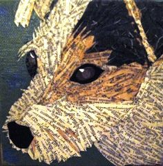 """Razor"" ripped paper art from Beth York Wolf"