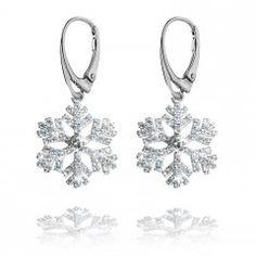 Stříbrné náušnice se zirkony - sněhové vločky 18 mm Engagement Rings, Jewelry, Enagement Rings, Wedding Rings, Jewlery, Jewerly, Schmuck, Jewels, Jewelery