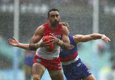 The AFL grand final in Melbourne on Saturday is not only a celebration of the two finest teams in the league, but of the veteran players retiring from the game.One such legend, Sydney Swans champion A. Adam Goodes, Melbourne, Sydney, Rugby Sport, World Rugby, Aboriginal Art, Swans, Superstar, Sailing
