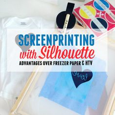 Screen printing projects freezer paper 17 Ideas for 2019 Silhouette School Blog, Silhouette Vinyl, Silhouette Portrait, Silhouette Curio, Silhouette Design, Screen Printing Machine, Screen Printing Shirts, Stencil Diy, Stencil Painting