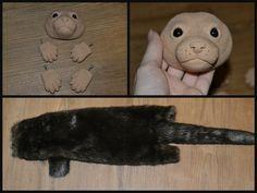 Plush otter WIP by Cassandra-Leopardess