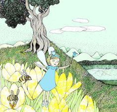 Fairy and bees by Maria Nilsson