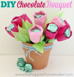 DIY Chocolate Mother's Day Bouquet #SharetheDOVE