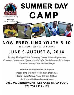 Now Enrolling!! Sumer Camp