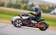Nixon's first Spyder experience is on a runway-cum-drag strip. - Photo Gallery - Cycle Canada