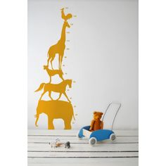 Animal Tower Vinyl Wall Decal by ferm living