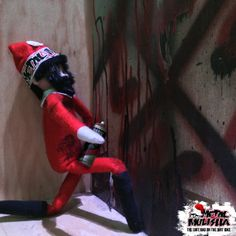 We caught our little hellion tagging up the office! Dirt bag on the Dirt Bike. Naughty Elf on the Shelf! http://www.metalmulisha.com/blog/dirt-bag-on-the-dirt-bike/